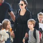 アンジェリーナ・ジョリー、シャイロちゃんが超ショートに!子どもたちを連れて空港 #双子 #ヴィヴィアン
