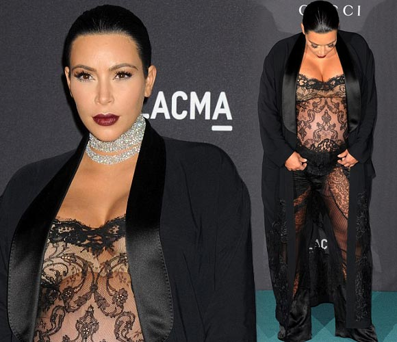 Kim-Kardashian-bump-see-through-jumpsuit-LACMA-2015