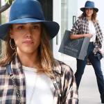 ジェシカ・アルバ、カジュアルなショッピングスタイル #私服 #ファッション