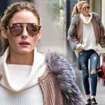 オリヴィア・パレルモ、コーヒー片手にNYをお出かけ #秋冬 #ファッション