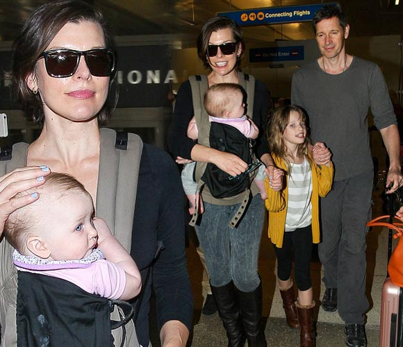 Milla-Jovovich-family-dec-16-2015