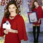ミランダ・カー、真っ赤なワンピースでクリスマスイベントに登場 #スワロフスキー