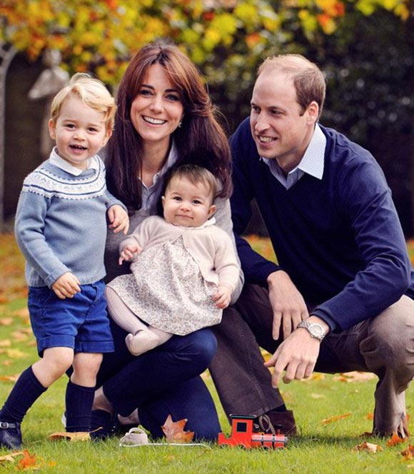 prince-William- Kate-George- Charlotte-christmas-2015