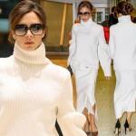 ヴィクトリア・ベッカム、さすがデザイナー!大人きれいめな「全身白コーデ」  #私服 #髪型