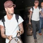 デビッド・ベッカム、カジュアルな空港ファッション #私服