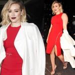 ヒラリー・ダフ、真っ赤なドレス&リップで女度アップ!#ボブヘア #私服