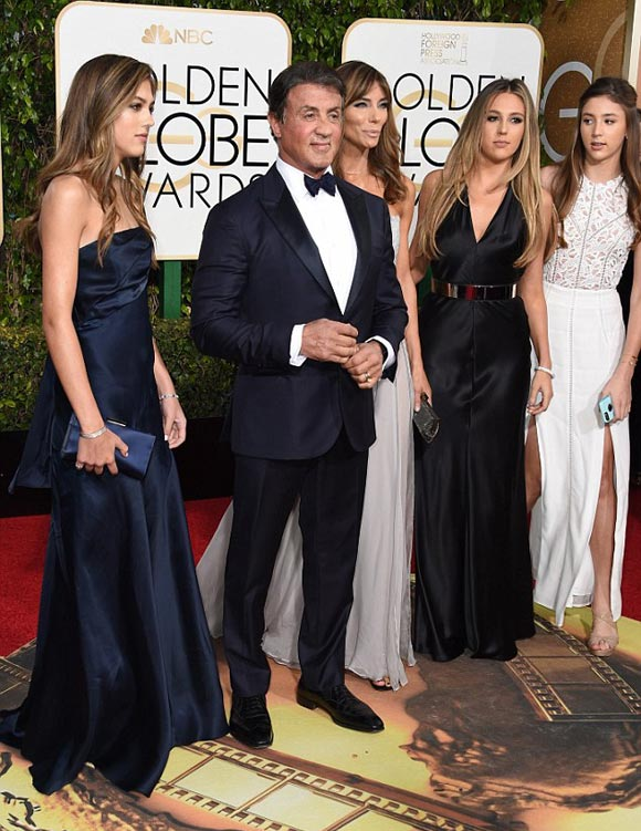 Sylvester-Stallone-daughters-golden-golden-globe-awards-2016-01