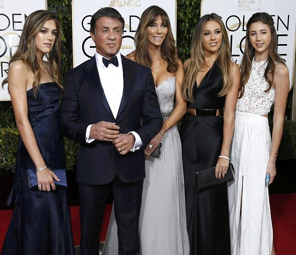 Sylvester-Stallone-daughters-golden-golden-globe-awards-2016