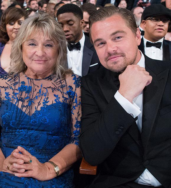 Leonardo-DiCaprio mother-Best-Actor-Oscar-2016