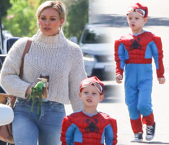 Hilary-Duff -son-Luca-spiderman-mar-2016