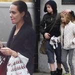 アンジェリーナ・ジョリー、2人の娘とショッピング #シャイロ #ヴィヴィアン