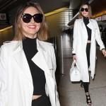 ミランダ・カー、軽やかブラック&ホワイトコーデ #ボブ #私服 #ファッション