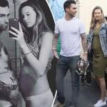 「マルーン5」アダム・レヴィーン、妊娠中の妻ベハティと揃ってポッコリお腹披露!#インスタグラム