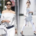 アレッサンドラ・アンブロジオ、流行の『オフショルダー』コーデ #私服