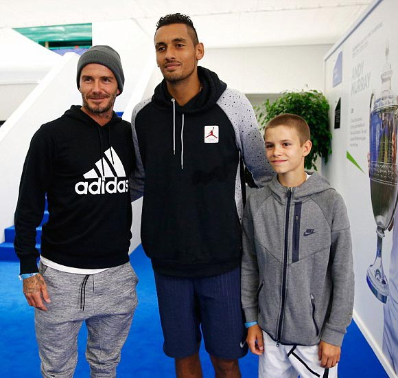 david-Romeo-Beckham-Nick Kyrgios-12-jun-2016