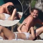 レオナルド・ディカプリオ、24歳の新恋人とビーチでラブラブ #ニーナ・アグダル