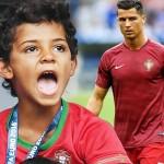 パパ負傷交代…息子クリスティアーノ・ロナウド・ジュニアが熱狂的応援!#EURO2016決勝