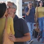 アマル・クルーニー、レトロなカジュアルで夫ジョージの撮影現場へ!