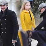 デビッド・ベッカム&愛娘ハーパーちゃん、愛犬を連れてお出かけ