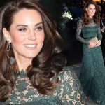 キャサリン妃、グリーンのレースドレスでガラパーティーに出席!#激やせ