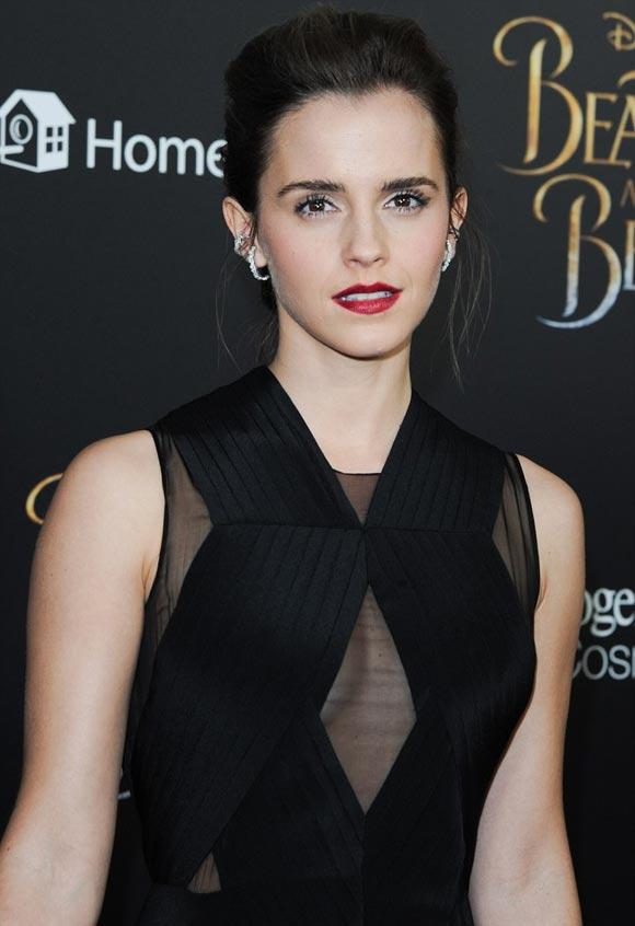 「3月13日、ニューヨーク」エマ・ワトソン(26)が、ニューヨークで行われた、実写版『美女と野獣』(4月21日公開)のプレミアイベントに出席した。