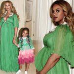 双子妊娠中のビヨンセ、ふっくらお腹で愛娘とのツーショットを公開!