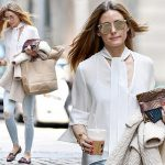 オリヴィア・パレルモ、白のブラウスにダメージスキニーでお出かけ #私服