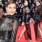 イリーナ・シェイク、黒のセクシーなシースルードレスでカンヌのレッドカーペットを飾る!
