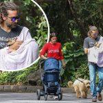 イリーナ・シェイク&ブラッドリー・クーパー、娘ちゃんを連れて家族3人でお散歩