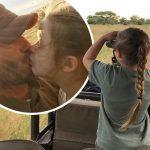デビッド・ベッカム、愛娘ハーパーちゃんとアフリカのサファリでキス!