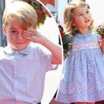 ジョージ王子&シャーロット女王、かわいらしさ発揮!ポーランドからベルリンへ