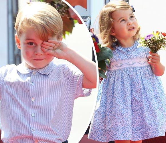 ジョージ王子&シャーロット女王、かわいらしさ発揮!ポーランド