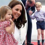 """""""イケメンに成長中""""ジョージ王子、ウィリアム王子一家がポーランドを訪問"""