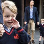 ジョージ王子、少し緊張気味の初登校!