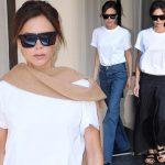 ヴィクトリア・ベッカム、3日連続「白Tシャツ」コーディネート #私服