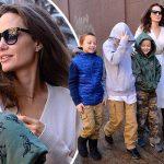 アンジェリーナ・ジョリー、子供たちと映画デー!「スター・ウォーズ」を観賞