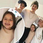 ベッカム家の子供たち、末っ子ハーパーちゃんのとびきり笑顔!#インスタグラム
