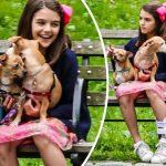 スリちゃん、犬と公園で遊ぶ姿がかわいい!#現在 #2018