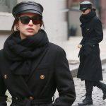 イリーナ・シェイク、オールブラックコーデがかっこよすぎる!#私服