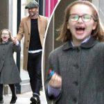 デビッド・ベッカム、娘ハーパーちゃんがメガネデビュー!満面の笑みでショッピングデート