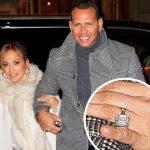 4度目の婚約!ジェニファー・ロペス、巨大なダイヤの指輪をはめて婚約者とディナーへ
