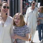 満面の笑み!アンジェリーナ・ジョリー、かわいい末娘ヴィヴィアンちゃんとお出かけ!