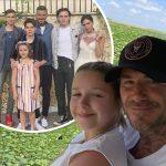 デビッド・ベッカム、娘ハーパーとのキス写真や家族写真を公開!