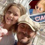 ベッカムの娘ハーパーちゃん、イタリアでバカンスを満喫!
