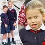 シャーロット王女、兄ジョージ王子と一緒に小学校に初登校!