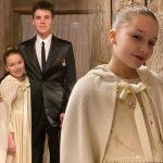 ベッカム夫妻、ハーパーちゃんとクルス君の洗礼式写真を公開!