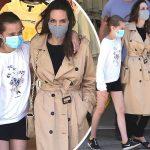 アンジェリーナ・ジョリー、マスク姿で娘ヴィヴィアンちゃんとショッピング